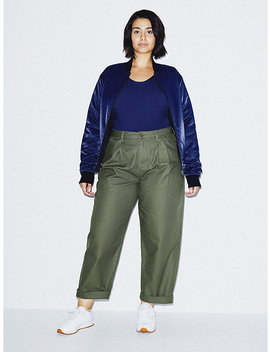 Twill Pleated Pant by American Apparel