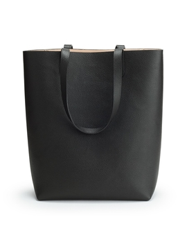 Tall Structured Leather Tote by Cuyana