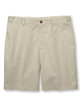 "Wrinkle Free Double L® Chino Shorts, Hidden Comfort Waist Plain Front 8"" Inseam by L.L.Bean"