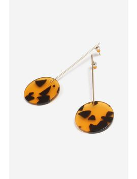 **tortoiseshell-stick-drop-earrings by topshop