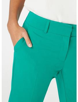 Green Split Hem Ankle Grazer Trousers by Dorothy Perkins
