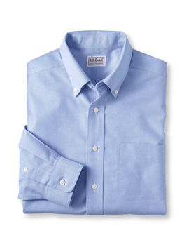 Wrinkle Free Classic Oxford Cloth Shirt, Slightly Fitted by L.L.Bean