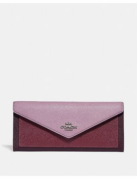 Soft Wallet In Colorblock by Coach
