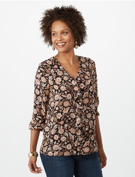 Floral Ruffle Blouse by Dressbarn