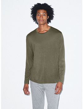 Mix Modal Long Sleeve Crewneck by American Apparel