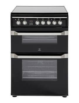 Indesit 60cm Ceramic Double Oven With Installation   Black by Indesit