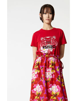 'Indonesian Flower' Tiger T Shirt by Kenzo