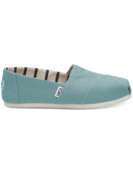 Marine Blue Heritage Canvas Women's Classics by Toms