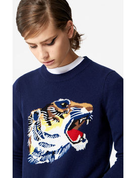 'tiger Head' Sweatshirt 'go Tigers Capsule' by Kenzo