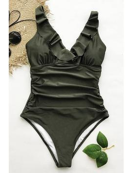 Sense Your Fragrance Falbala One Piece Swimsuit by Cupshe