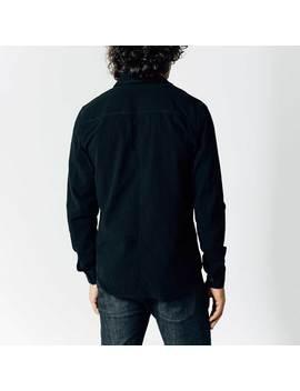 Mens Zip Shirt In Black by Dstld