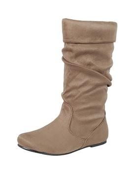 Ladies Fashion Ruched Wedge Boot Is Edgy, Dress Casual And Chic, Knee High Boot, Closed Almond Toe, Micro Wedge Heel Id.34370d by 599 Fashion