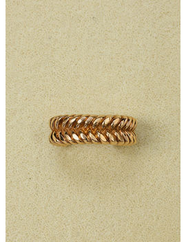 Antique Braided Bracelet In Brass With Gold Finish by Celine