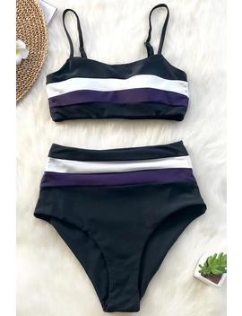 Summer Chocolate High Waisted Bikini Set by Cupshe