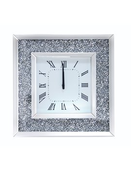 Acme Furniture Noralie Mirrored 20 In. Wall Clock by Acme Furniture