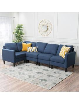 Carolina Fabric Sectional Couch by Gdf Studio