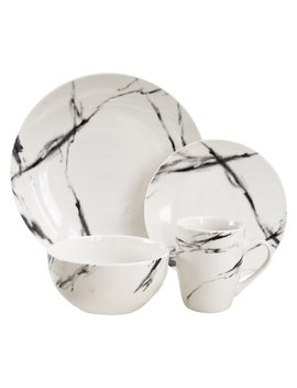 American Atelier Marble Coup 16 Piece Dinnerware Set by American Atelier