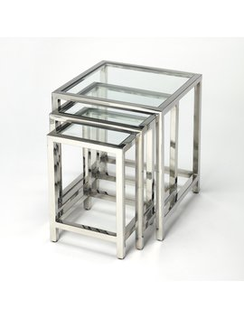 Butler Specialty Adler Stainless Steel Nesting Tables by Butler Specialty
