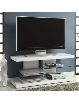 Coaster Furniture 47 In. Tv Stand With Floating Glass Shelves by Coaster Furniture