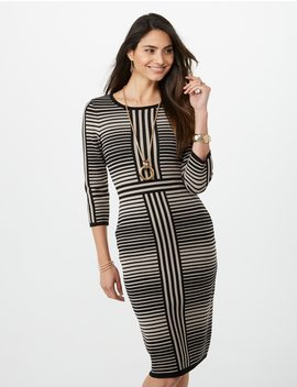 Striped Sweater Dress by Dressbarn