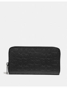 Accordion Wallet In Signature Leather by Coach