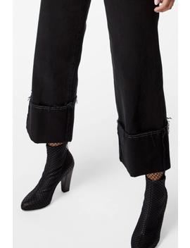 Joan High Rise Wide Leg Crop In Hematite by J Brand