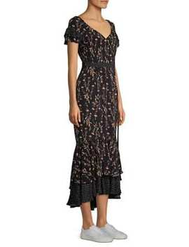 Melanie Belted Floral Ruffle Dress by Likely