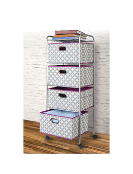 Bintopia 4 Drawer Decorative Fabric Cart by Bintopia