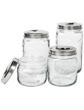 Mason Clear Glass Canisters, Set Of 4 by Mason Craft & More