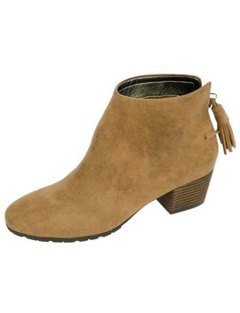 Famous Maker Faux Suede Ankle Boot by Famous Maker