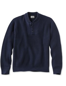 Blue Jean Sweater, Military Henley by L.L.Bean