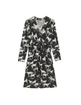 Mono Wild Horses Jersey Tie Front Dress by Cath Kidston