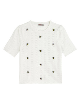 Bumble Bee Embroidered Stitch Jumper by Cath Kidston