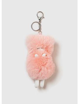 Pink Fluffy Eskimo Keyring by Dorothy Perkins