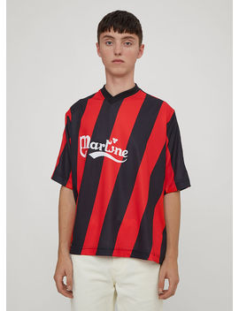 Twisted Football Shirt In Red by Martine Rose