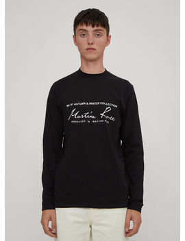 Long Sleeve Logo T Shirt In Black by Martine Rose
