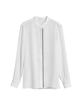 Silk Band Collar Shirt by Cuyana