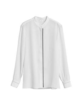 Silk Band Collar Shirt by Cuyana