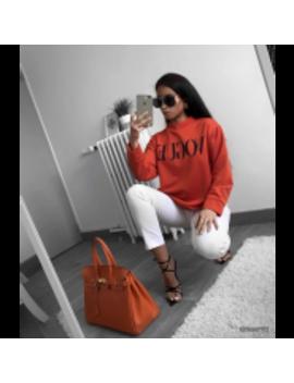 Vogue Sweater Orange by Fashion Drug