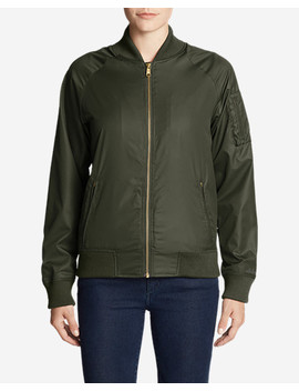 Women's Winslow Fleece Lined Bomber Jacket by Eddie Bauer