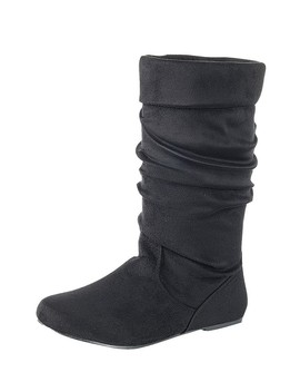 Ladies Fashion Ruched Wedge Boot Is Edgy, Dress Casual And Chic, Knee High Boot, Closed Almond Toe, Micro Wedge Heel Id.34370 by 599 Fashion