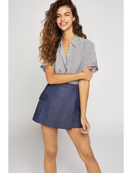 Patch Pocket Denim Skort by Bcbgeneration