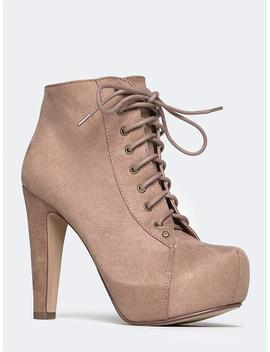 Scala Lace Up Ankle Bootie by Zooshoo