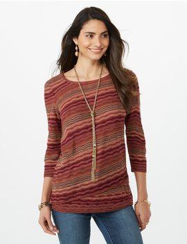 Multi Colored Geometric Patterned Sweater by Dressbarn