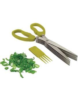 Starfrit® Stainless Steel Multi Blade Herb Scissor; Green by Starfrit
