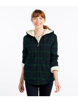 Scotch Plaid Shirt, Sherpa Lined Zip Hoodie by L.L.Bean