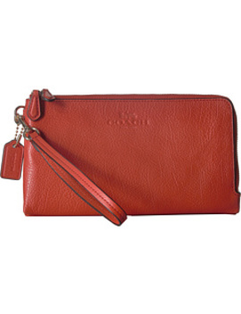 pebbled-leather-double-zip-wallet by coach