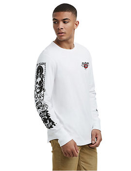 Mens Tattoo Graphic Long Sleeve Shirt by True Religion