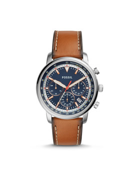 Goodwin Chronograph Light Brown Leather Watch by Fossil