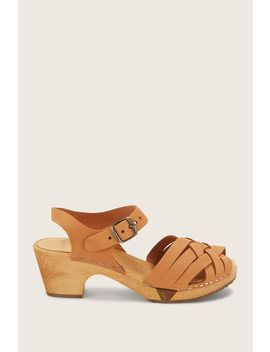 Sandal Mid Heel   Betty Flex   Brown / Bronze by Monshowroom